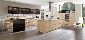 Functie van de keuken: Nobilia keuken met kookeiland – 371, 893 Decor eiken San Remo