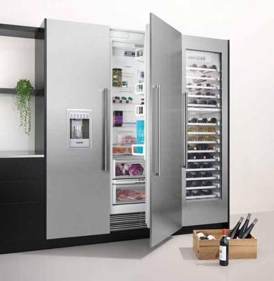 Wijnkoelkast en wijnklimaatkast keuze: Siemens Amerikaanse koelkast / side by side koelkast met wijnkoeler