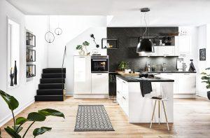 Moderne landelijke witte keuken - Häcker Granada Weiss
