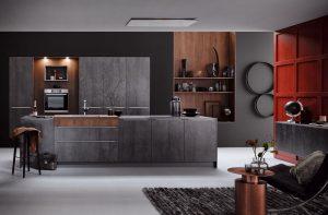 Keukenstijl: trendy keuken – Donkere Häcker keuken met keukeneiland AV 8000