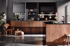 Keukenstijl: industriële keuken - Häcker keuken met gerookt eiken en staal 6084 7070