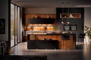 Keuken vorm: Parallel keuken – Häcker keuken 6000 zwart matlak