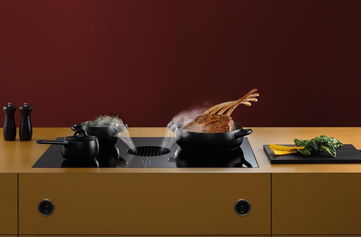 Keuken schoonmaken tips: inductie kookplaat schoonmaken - Bora X Pure inductiekookplaat met kookveldafzuiging