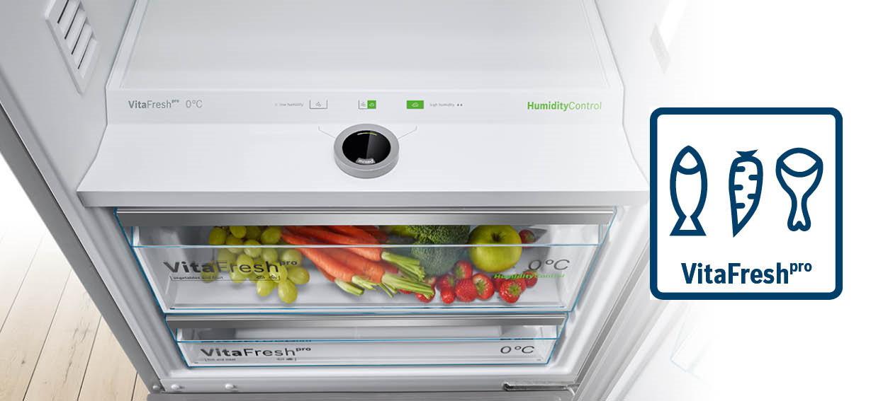 Bosch koelkast met VitaFresh laden