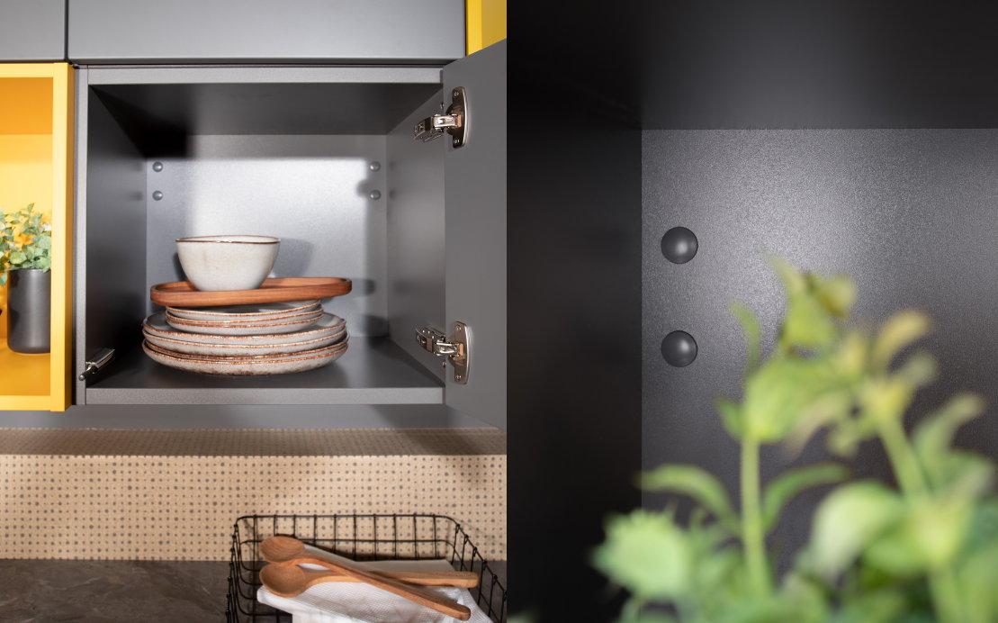 Korpus keuken kleur lavagrijs – Häcker keukens
