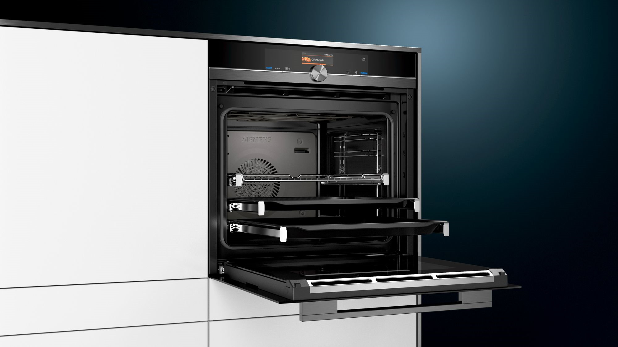 Siemens stoomoven StudioLine iQ700 zwart