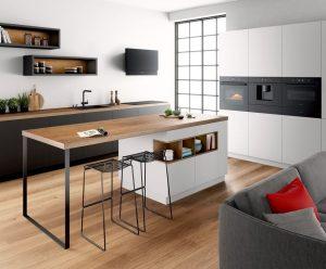Combi oven en compacte combi stoomoven, Bosch oven zwart Carbon Black Accent Line