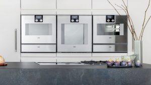 Gaggenau combi stoomoven, oven met hetelucht en grill functie, met pyrolytische zelfreiniging, warmhoudlade, vacumeerlade