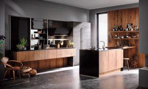 Design greeploze keuken, Häcker houten keuken AV 6084 GL AV 7070