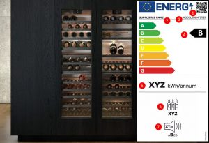 Nieuw energielabel wijnklimaatkast, nieuw energielabel wijnkoelkast, Gaggenau