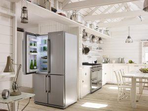 SMEG Amerikaanse koelkast RVS, 4 deuren