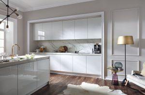Marmer achterwand keuken, Häcker luxe keuken 4030 GL