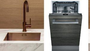 Kleine spoelbak & kleine vaatwasser, Lanesto spoelbak en keukenkraan Copper & Siemens vaatwasser 45cm