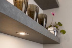 Verlichting keuken zonder bovenkasten: plank onderbouw LED verlichting dimbaar – Lavanto dimbare ledspots