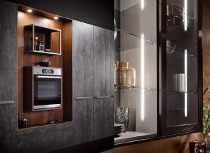 LED verlichting keukenkast en nis, Häcker keukens