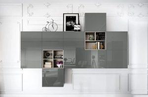 Glazen keukenfrontjes, Häcker keuken Design Glass Lava Grey AV 5090